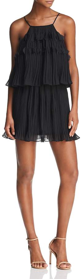 Shauna Pleated Mini Dress