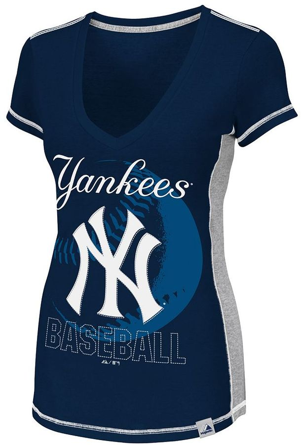 New York Yankees Majestic light up the stands tee - women