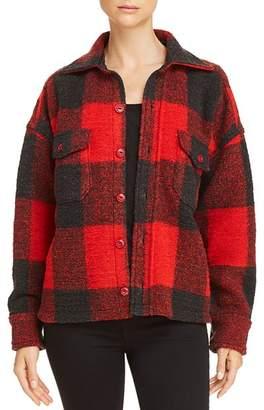Anine Bing Bobbi Plaid Flannel Jacket
