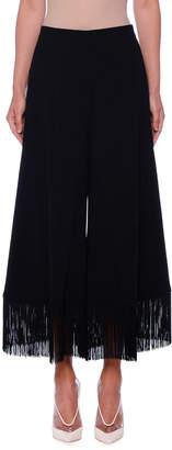 Stella McCartney Fringe-Hem Wide-Leg Crop Trousers