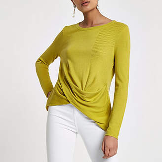 River Island Lime twist front top