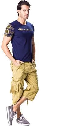 Tonwhar Men's Capri Pants Muti-pocket Casual Cargo Short