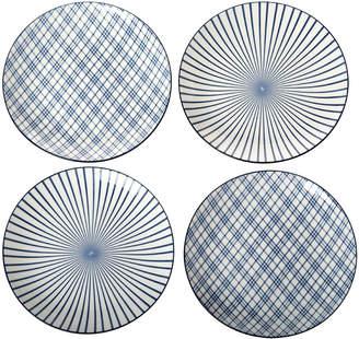 Pols Potten Assorted Check & Stripe Plates