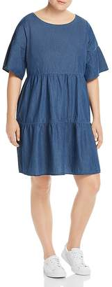 Junarose Plus Tiered Denim Dress