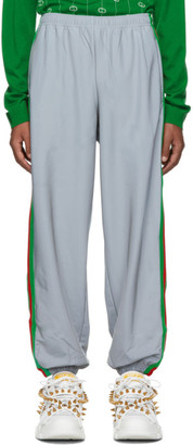 Gucci Silver Reflective Loose Lounge Pants