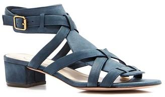 Delman Moxie Block Heel Sandals $298 thestylecure.com