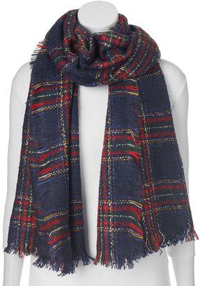 Manhattan Accessories Co. Plaid Oblong Blanket Scarf $32 thestylecure.com
