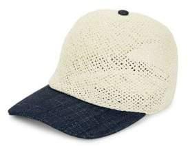 Calvin Klein Straw Baseball Cap