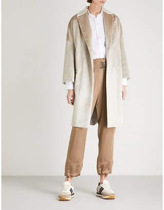 Brunello Cucinelli Longline velvet coat