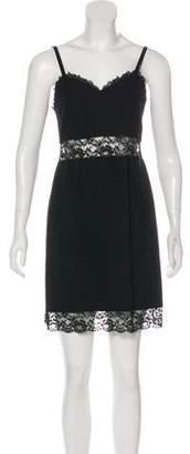 Sonia Rykiel Lace-Trimmed Mini Dress