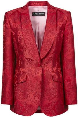 Dolce & Gabbana Dolce \u0026 Gabbana Brocade Single Breasted Blazer
