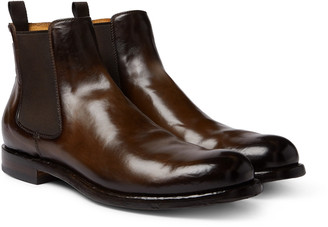 Officine Creative Tempus Polished-Leather Chelsea Boots - Men - Brown