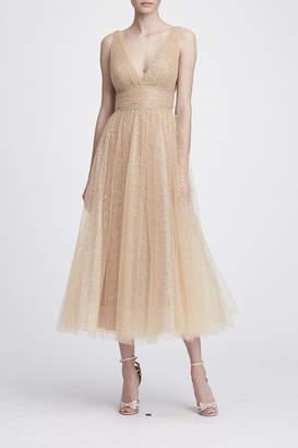 Marchesa Sleeveless Tulle Dress