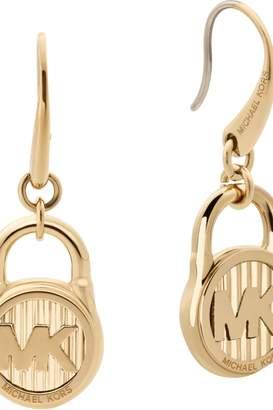 63a32e949 Michael Kors Jewellery Ladies Stainless Steel Logo Collection Logo Padlock  Drop Earrings MKJ6813710