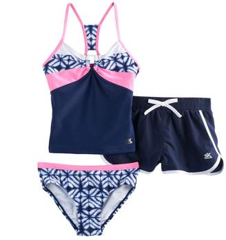 ZeroXposur Girls 7-16 & Plus Size 3-pc. Tankini Set