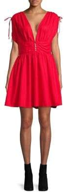 Free People Roll Dice Fit-&-Flare Dress