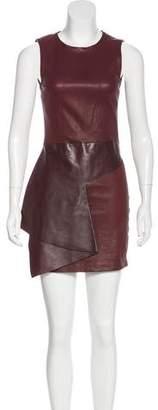 Neil Barrett Sleeveless Leather Mini Dress