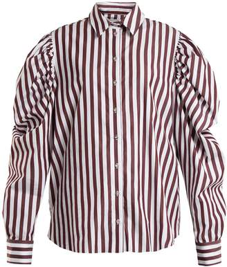 Marques Almeida MARQUES'ALMEIDA Puff-sleeved striped cotton shirt