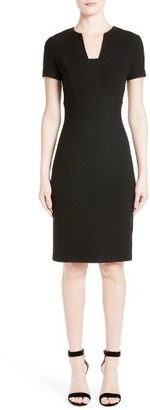 Women's St. John Collection Micro Boucle Knit Dress $895 thestylecure.com