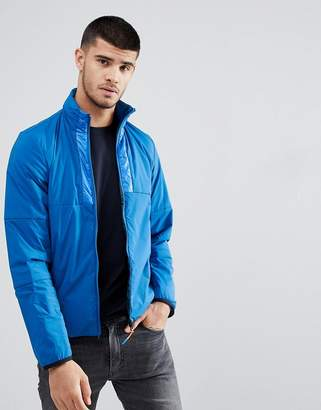 Paul Smith Nylon Tech Zip Through Jacket In Blue
