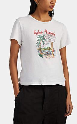 "RE/DONE Women's The Classic ""Aloha"" Cotton T-Shirt - White"