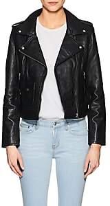 Barneys New York Women's Leather Moto Jacket - Black