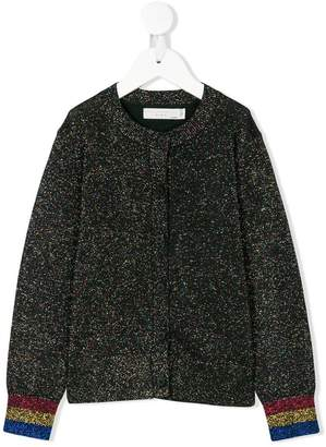Stella McCartney rainbow cuff lurex cardigan