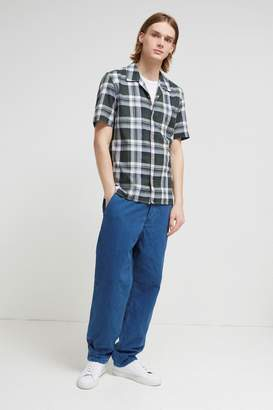 French Connection Overwashed Lawn Check Shirt
