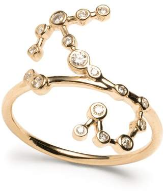 Lulu Frost Zodiacs 14k & Diamond Scorpio + Water Ring