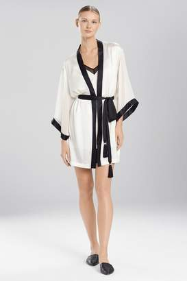 Josie Natori Sleek Wrap With Chiffon