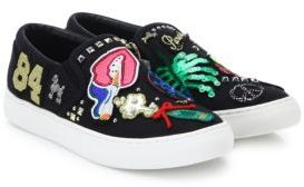 Marc Jacobs Mercer Embroidered Slip-On Sneakers $350 thestylecure.com
