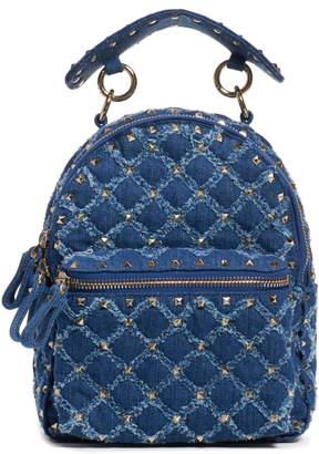 Valentino GARAVANI Mini Rockstud Spike Denim Backpack
