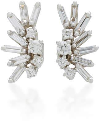 Suzanne Kalan Post 18K White Gold Diamond Earrings