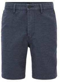 BOSS Hugo Cotton Linen Blend Short, Tapered Fit Siman Shorts W 34R Dark Blue