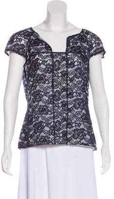 Chanel Lace Short-Sleeve Top