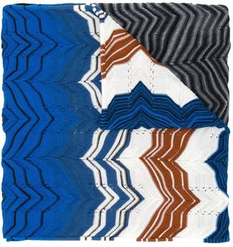 Missoni zigzag knitted scarf
