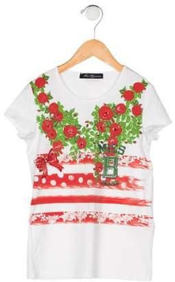 Miss Blumarine Girls' Embellished T-Shirt