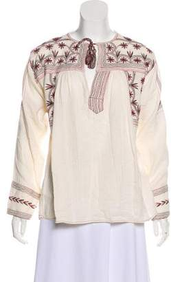 Etoile Isabel Marant Embroidered Long Sleeve Top