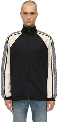 381545ee0 Gucci Zip-Up Cotton Blend Jersey Jacket