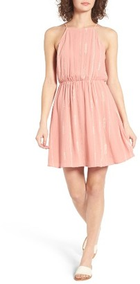 Women's Lush Embroidered Apron Dress $45 thestylecure.com