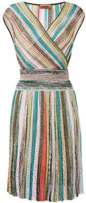Missoni stripe knitted midi dress