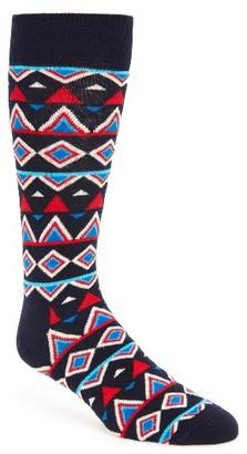 Men's Happy Socks Temple Cotton Blend Socks $12 thestylecure.com