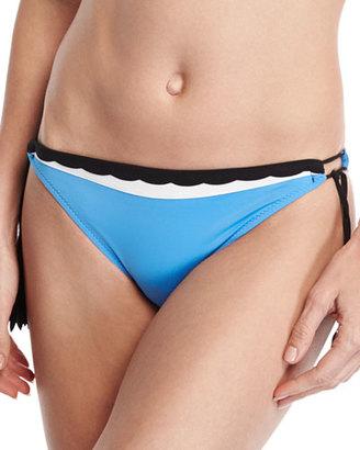 Shan Three Of A Kind Tassel-Tie Swim Bottom, Blue $130 thestylecure.com