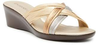 Italian Shoemakers Contrast Wedge Sandal