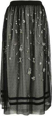 Ermanno Scervino Embroidered Skirt