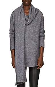 The Row Women's Merriah Cashmere-Blend Scarf-Neck Sweater-Grey Melange