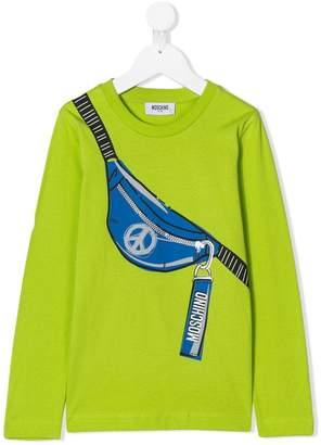 Moschino Kids TEEN printed long-sleeved T-shirt