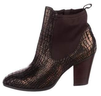 Donald J Pliner Embossed Leather Ankle Boots