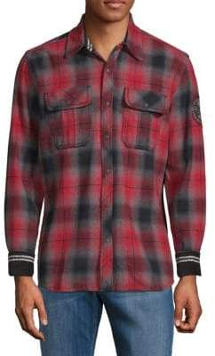 Affliction Boardwalk Cotton Plaid Shirt