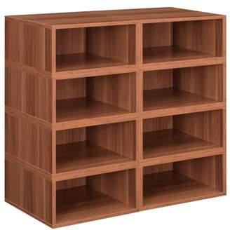 Cubo Niche Storage Set- 8 Half Size Cubes- Warm Cherry